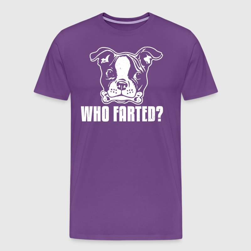 Boston Terrier Who Farted - Men's Premium T-Shirt