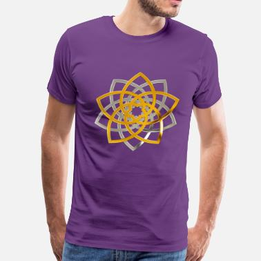 Ag flower of venua duo | gold silver - Men's Premium T-Shirt