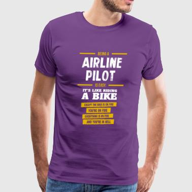 airline pilot - Men's Premium T-Shirt