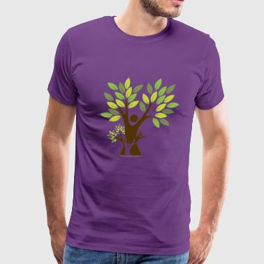 Green Branch Tree - Men's Premium T-Shirt