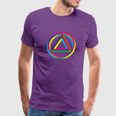 Recovery Logo Triangle and Circle Shifted Colors - Men's Premium T-Shirt