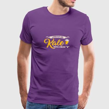 I Love Kale I Prefer My Kale With A Silent K T Shirt Funny Bee - Men's Premium T-Shirt