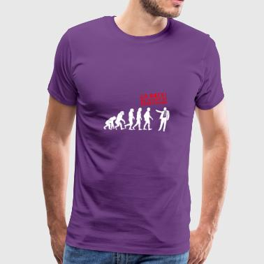 Funny Messed Up Evolution - Men's Premium T-Shirt