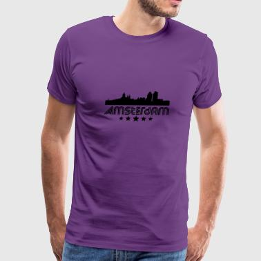 Retro Amsterdam Skyline - Men's Premium T-Shirt