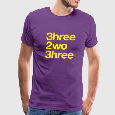 323 Area Code - Men's Premium T-Shirt