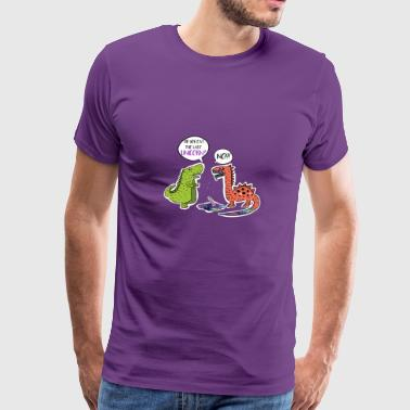 Did you eat last Unicorn t-shirt. Funny Dinosaurs - Men's Premium T-Shirt