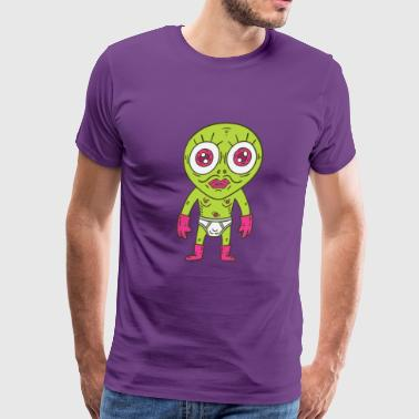 Odd Little Greenman - Men's Premium T-Shirt