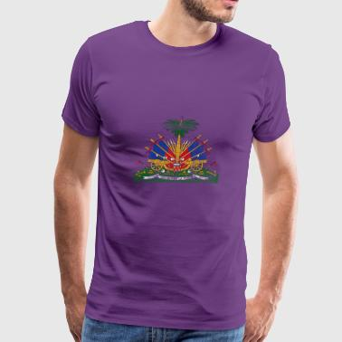 Haitian Coat of Arms Haiti Symbol - Men's Premium T-Shirt