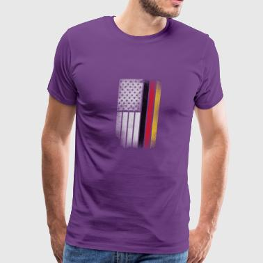 German American Flag - Half German Half American - Men's Premium T-Shirt
