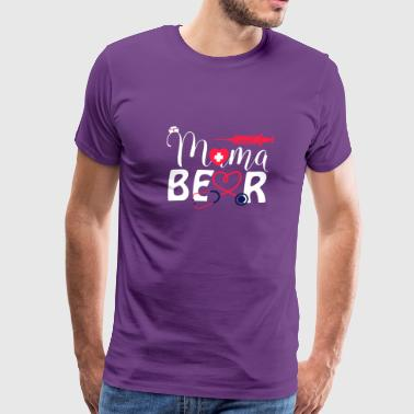 Nurse Mama Bear T Shirt - Men's Premium T-Shirt