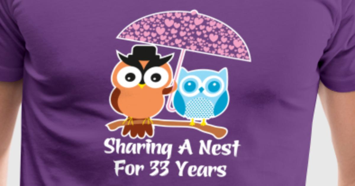 33 Years Wedding Anniversary Gifts Presents By Ilovemytshirt