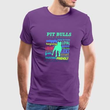 Love You Pit Bulls The Reality - Men's Premium T-Shirt