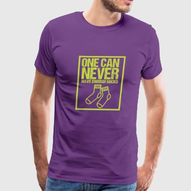 One can never have enough socks - Men's Premium T-Shirt