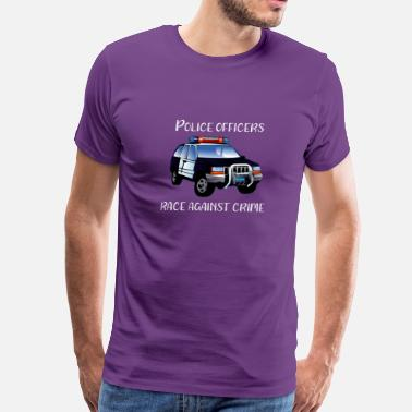 Police Officer Blue Line Police Race Against Crime - Men's Premium T-Shirt