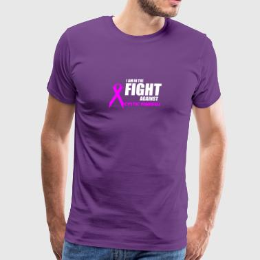 Cystic Fibrosis I am in the Fight Against Cystic Fibrpsis - Men's Premium T-Shirt