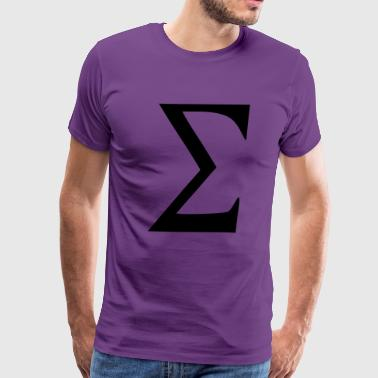 Greek Signs Sigma - Men's Premium T-Shirt