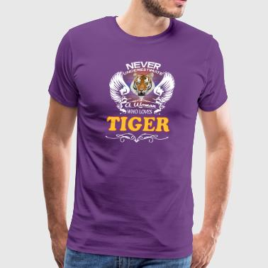 A Woman Who Love Tiger - Men's Premium T-Shirt
