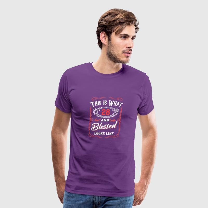 This Is What 28 And Blessed Looks Like - Men's Premium T-Shirt