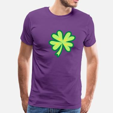 Clover Good Luck good luck clover 4 leaf - Men's Premium T-Shirt
