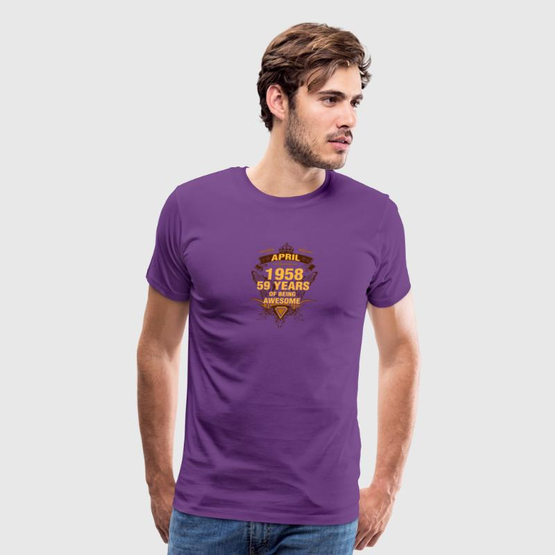 April 1958 59 Years of Being Awesome - Men's Premium T-Shirt