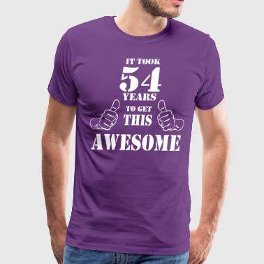 54th Birthday Get Awesome T Shirt Made in 1963 - Men's Premium T-Shirt