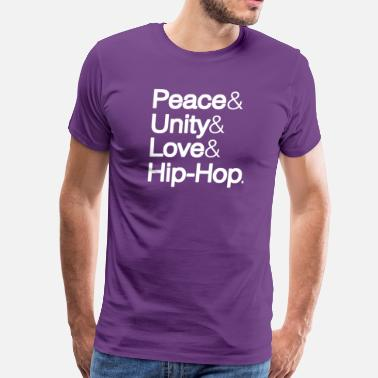 Zulu Nation Peace Unity Love Hip Hop - Men's Premium T-Shirt