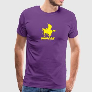 Uniporn Funny t Unicorn comic porn horse myth ride - Men's Premium T-Shirt