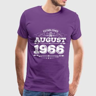 Established in August 1966 - Men's Premium T-Shirt