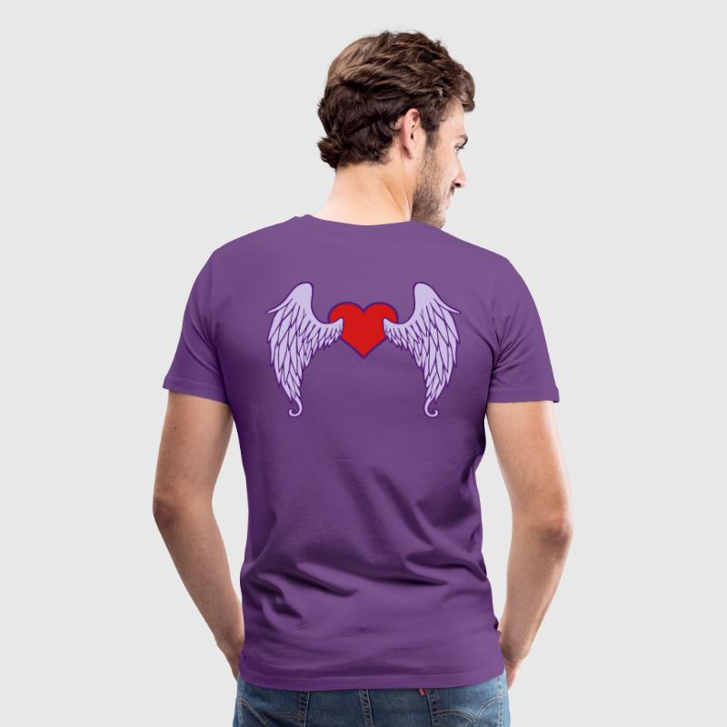 Angel wings - heart - Men's Premium T-Shirt