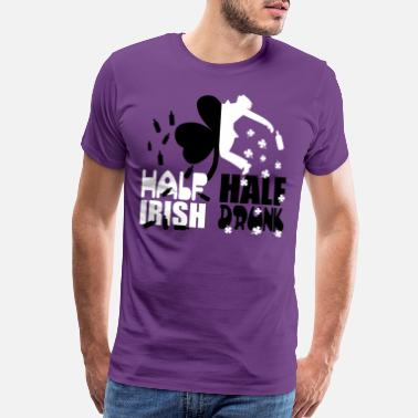 Drinking Half irish, half drunk - Men's Premium T-Shirt