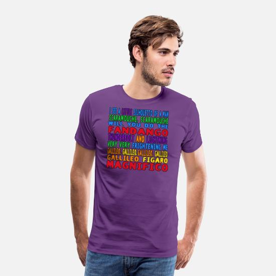 Queen T-Shirts - Bohemian Rhapsody - Men's Premium T-Shirt purple