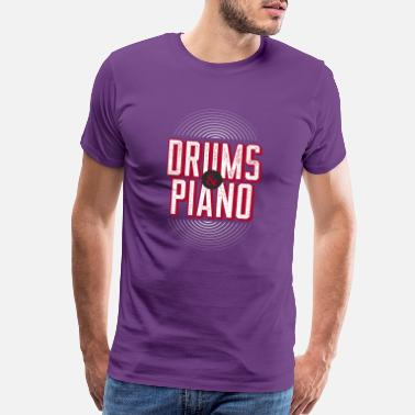 Rock 'n' Roll Drums And Piano - Men's Premium T-Shirt