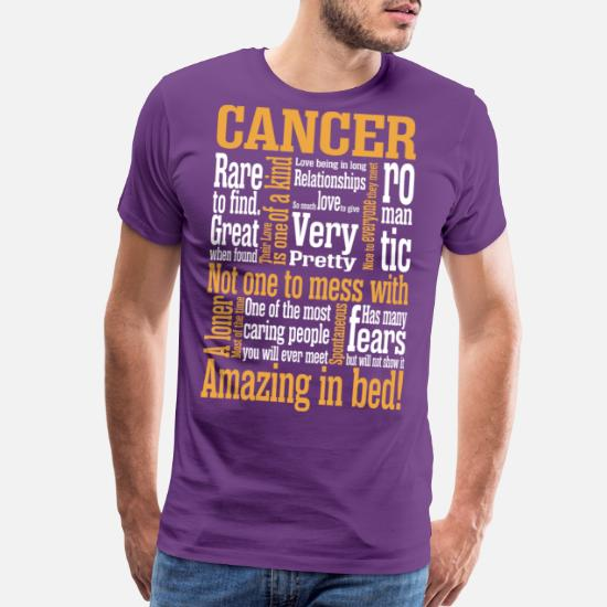 Cancer Amazing In Bed Men's Premium T-Shirt | Spreadshirt