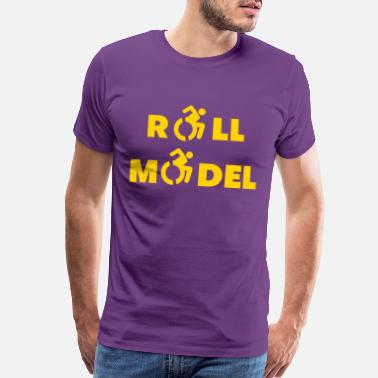 Disabled Roll model in a wheelchair, sexy wheelchair user - Men's Premium T-Shirt