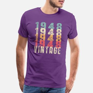 Vintage 1948 70th Birthday Tshirt Gift Vintage Distressed 1948 - Men's Premium T-Shirt