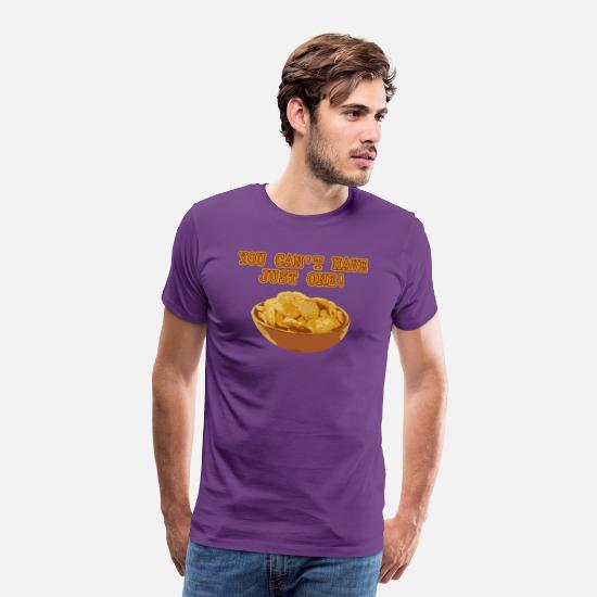 Chicken T-Shirts - Funny National Potato Chips Day product - Men's Premium T-Shirt purple