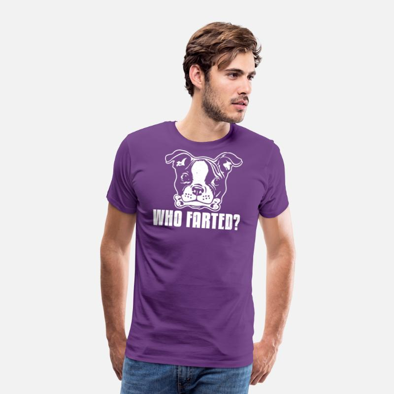 Terrier T-Shirts - Boston Terrier Who Farted - Men's Premium T-Shirt purple