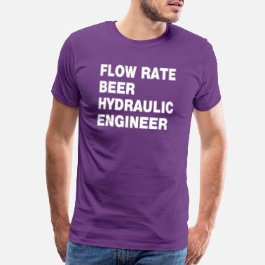 Flow Hydraulic Engineer White Text - Men's Premium T-Shirt