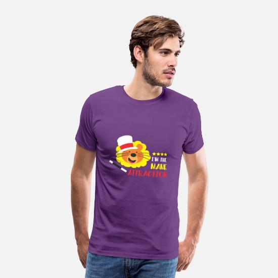 Birthday T-Shirts - I am The Mane Attraction - Men's Premium T-Shirt purple