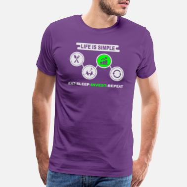 Fair Trade Eat Sleep Invest - Men's Premium T-Shirt