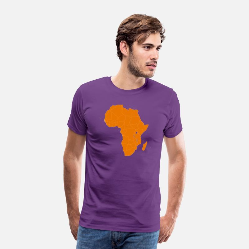 South Africa T-Shirts - Africa - Men's Premium T-Shirt purple