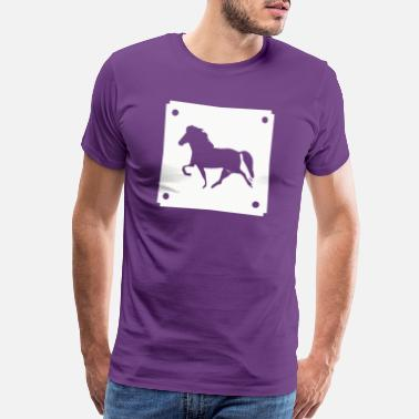 Girls Horseback Riding Icelandic Horse: Pony Merch - Men's Premium T-Shirt
