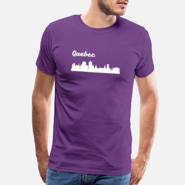 Quebec Quebec Skyline - Men's Premium T-Shirt