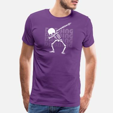 Viral Dabbing Skeleton - Men's Premium T-Shirt