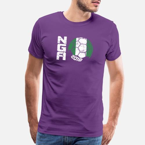 Soccer T-Shirts - Soccer Ball 2018 Nigeria - Men s Premium T-Shirt purple.  Do you want to edit the design  d9dcb0f39