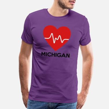 Michigan Heart Heart Michigan - Men's Premium T-Shirt