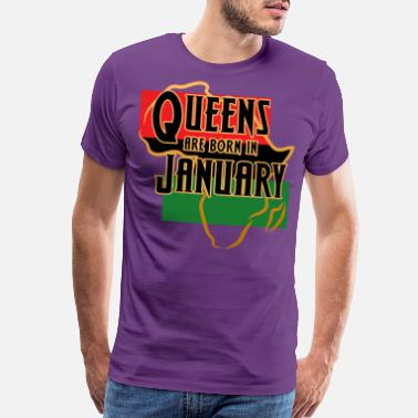 American Pride Birthday Queens Are Born In January - Men's Premium T-Shirt