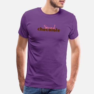Sexual Chocolate Sexual Chocolate Pink and Brown Letter T Shirt - Men's Premium T-Shirt