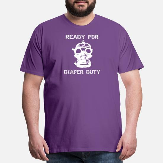 e975f41c7 Father's Day T-Shirts - Dad Diaper Duty Funny New Dad Gift - Men's Premium