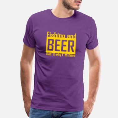 Beer And Fishing Awesome Fishing And Beer T Shirt - Men's Premium T-Shirt